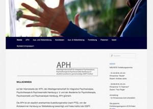 Webseite APH Hamburg