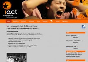 Webseite Iact Schauspielschule Hamburg