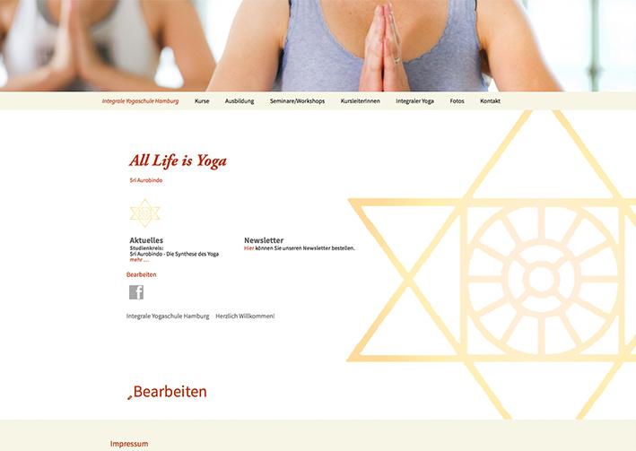 Webseite Integrale Yogaschule Hamburg