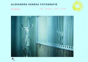 Webseite Alexandra Heneka