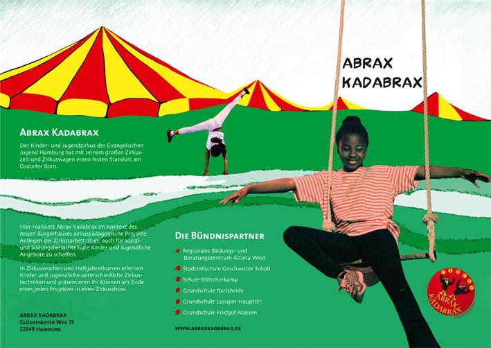 Abrax Kadabrax Zirkus Flyer